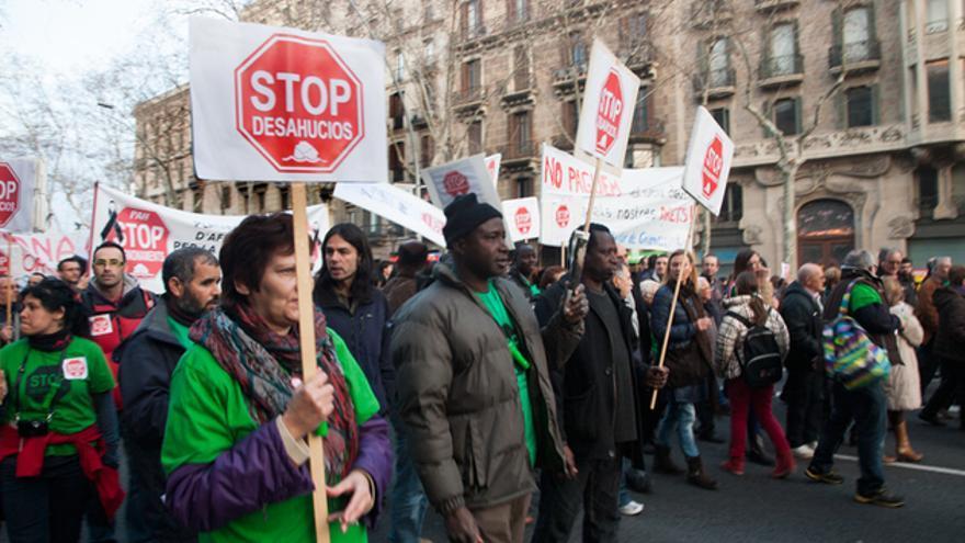 Manifestación de Stop deshaucios