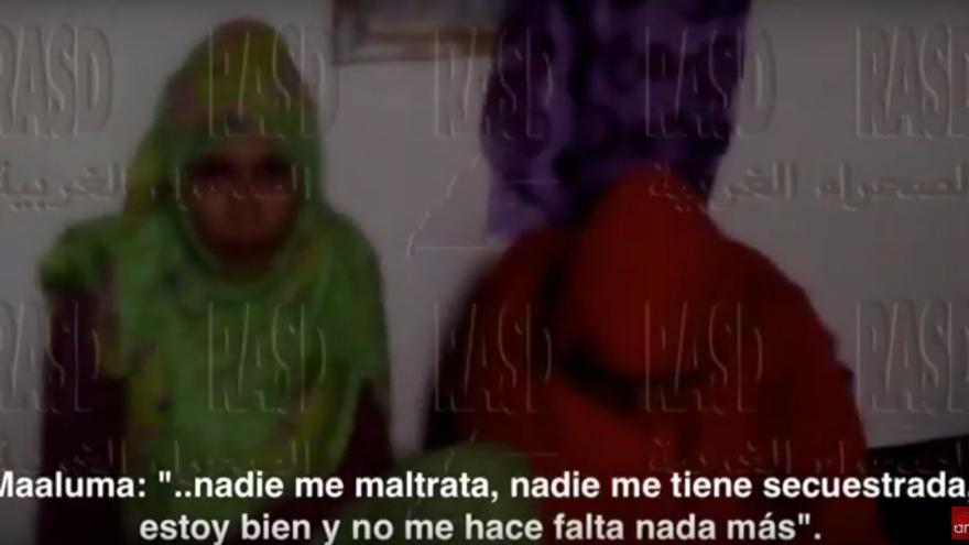 Maloma Morales, en el vídeo difundido este jueves