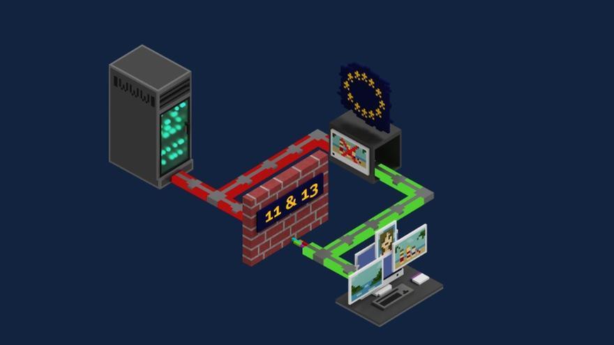 Parodia de los artículos 11 y 13 de la directiva europea de copyright, realizada por la campaña savetheinternet.info