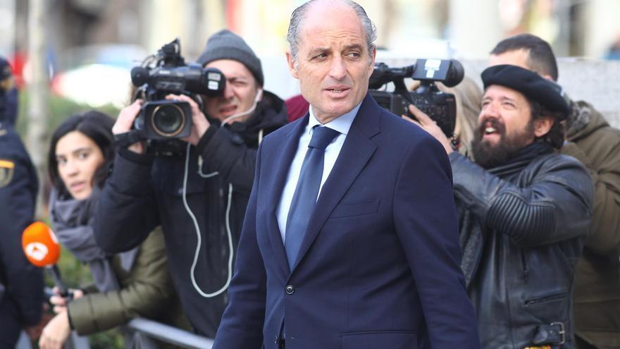 El expresident Francisco Camps a su llegada a la Audiencia Nacional