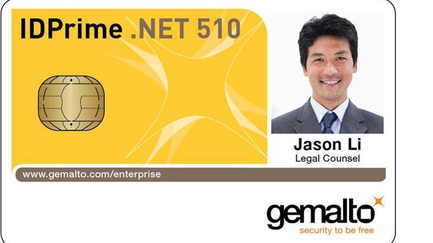 Una tarjeta de la empresa Gemalto, que monta el chip de Infineon