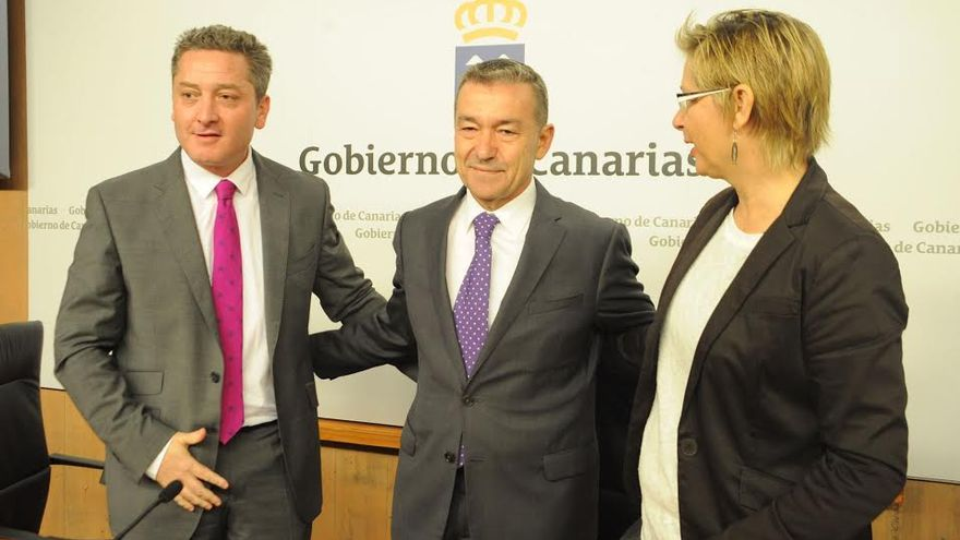Willy García, Paulino Rivero y Ana Sánchez