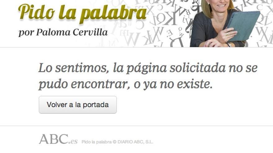 Post borrado de Paloma Cervilla.