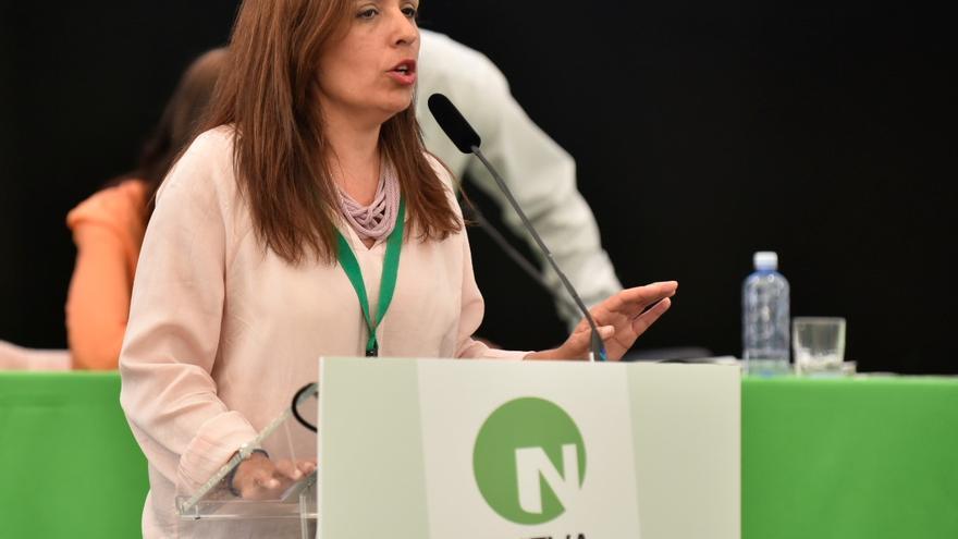La vicepresidenta primera de Nueva Canarias, Carmen Hernández.