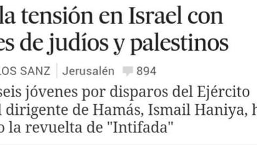 Palestinos muertos. / Perlas