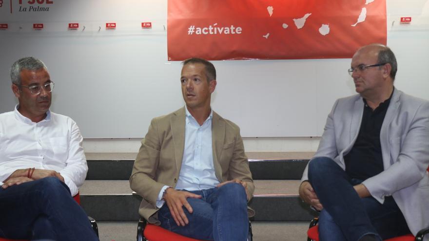 Sergio Matos, Ander Gil y Anselmo Pestana.