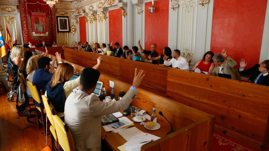 Pleno en el Ayuntamiento de Las Palmas de Gran Canaria este viernes