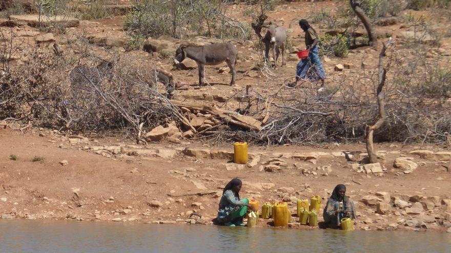 En las tierras bajas de Seru-Bele Gesgar, la población tiene que vivir en un contexto casi desértico (Santiago Cano/Ayuda en Acción)