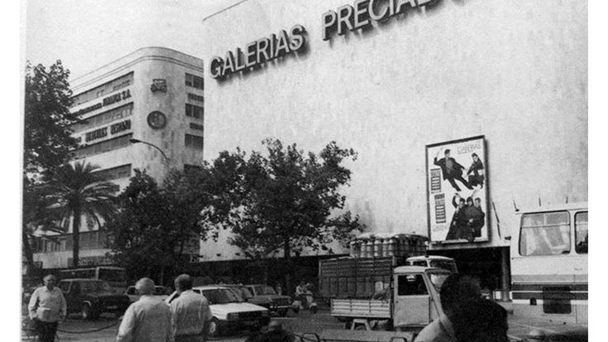 Imagen de archivo de Galerías Preciados en los años noventa en Córdoba