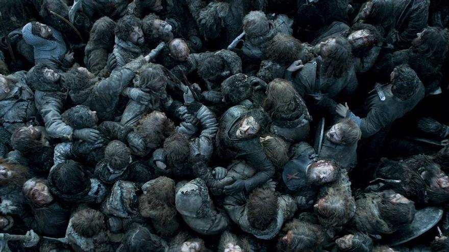 Una de las escenas más impactantes de 'La batalla de los bastardos' de 'Juego de Tronos'