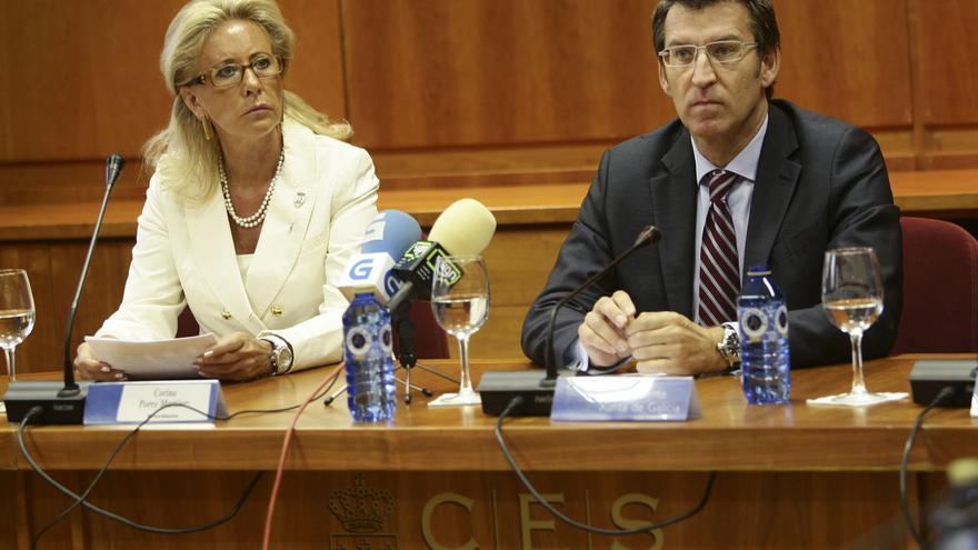 Porro y Feijóo en la toma de posesión de la primera en el CES en 2011