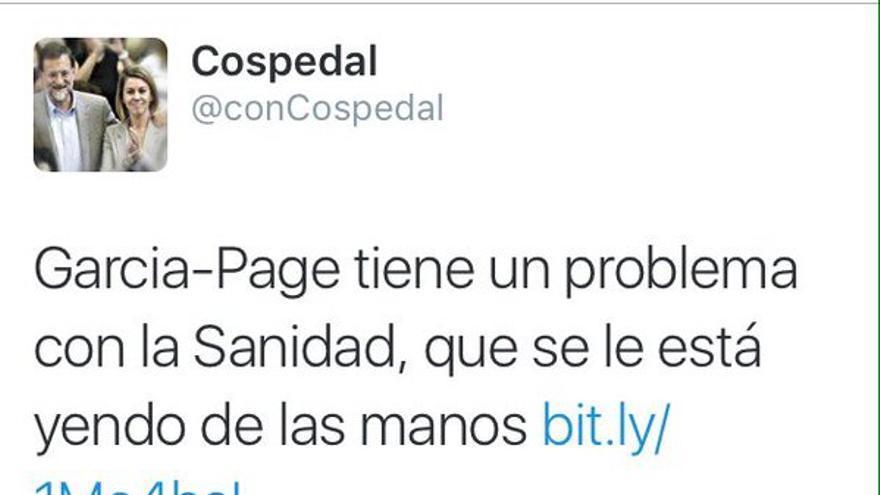 Tweet de @conCospedal / Foto: Twitter