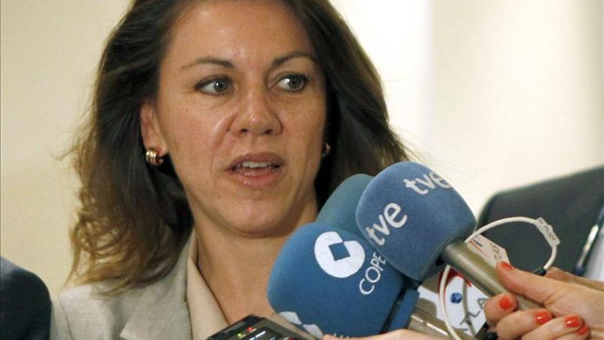Cospedal cree que el PP está ganando la batalla contra el acoso a los dirigentes