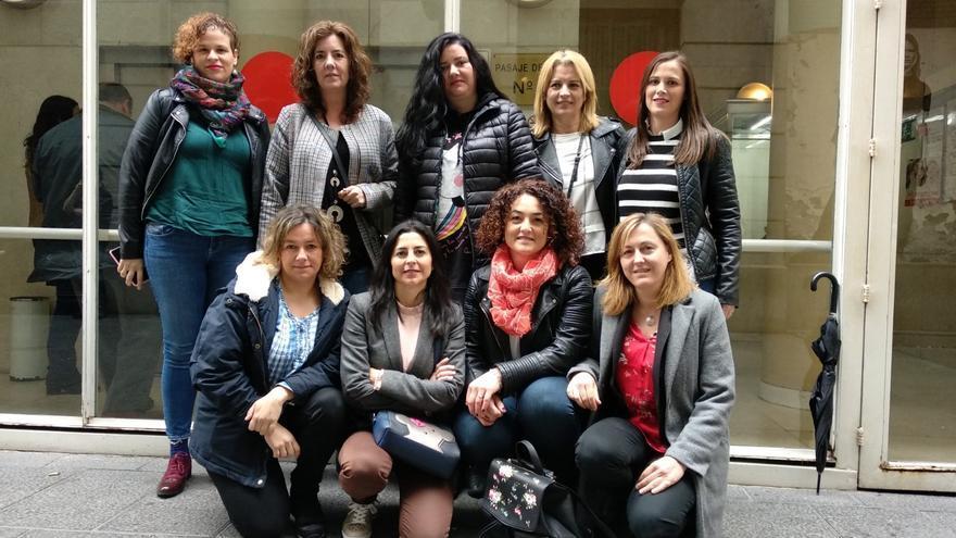 Las nueve trabajadoras de AON Mobile despedidaspor haber organizado una candidatura sindical de CCOO.