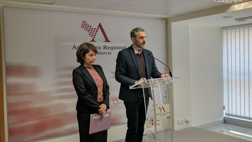 Óscar Urralburu, secretario general de Podemos en la Región de Murcia