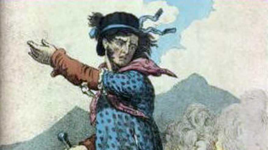 Grabado de Nedd Ludd, el supuesto primer 'ludita' de la historia