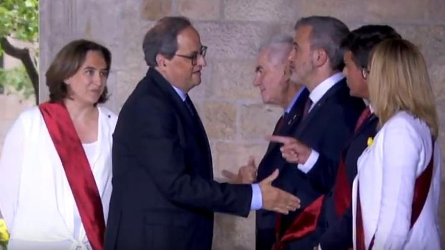 Quim Torra y Manuel Valls.