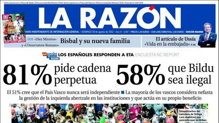 De las portadas del día (19/08/2012) #9