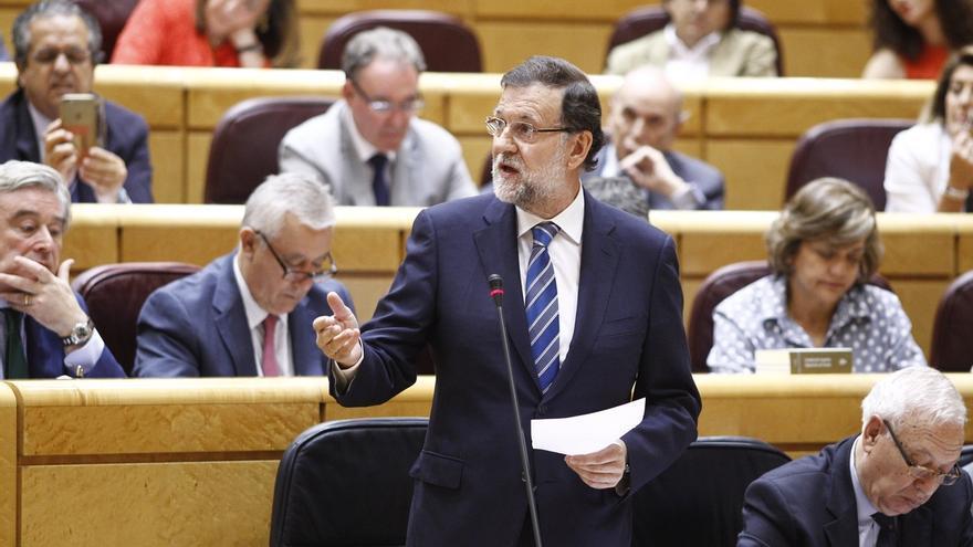El Senado se adelanta al Congreso al examinar este martes a Rajoy, que se estrena en esta Cámara tras año y medio sin ir