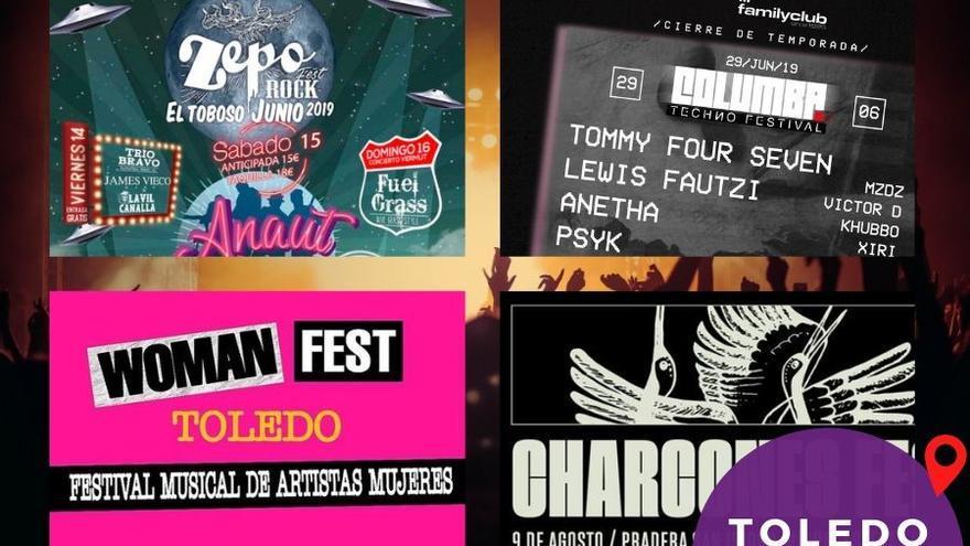 Cartel festivales 2019 Toledo