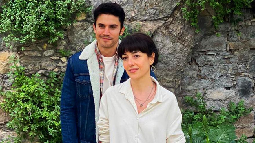 Cecilia Suárez y Álex González en el rodaje de '3caminos'