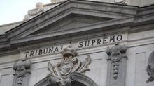 Detalle de la fachada del Tribunal Supremo.