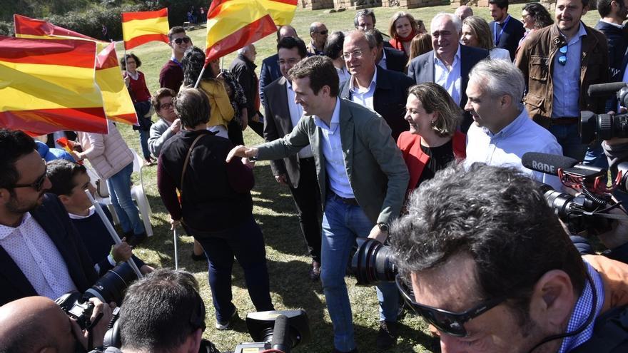 El líder del PP, Pablo Casado, en un acto este fin de semana.