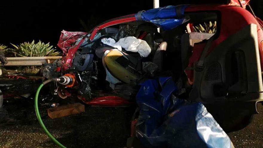 Accidente de tráfico en Playa Honda