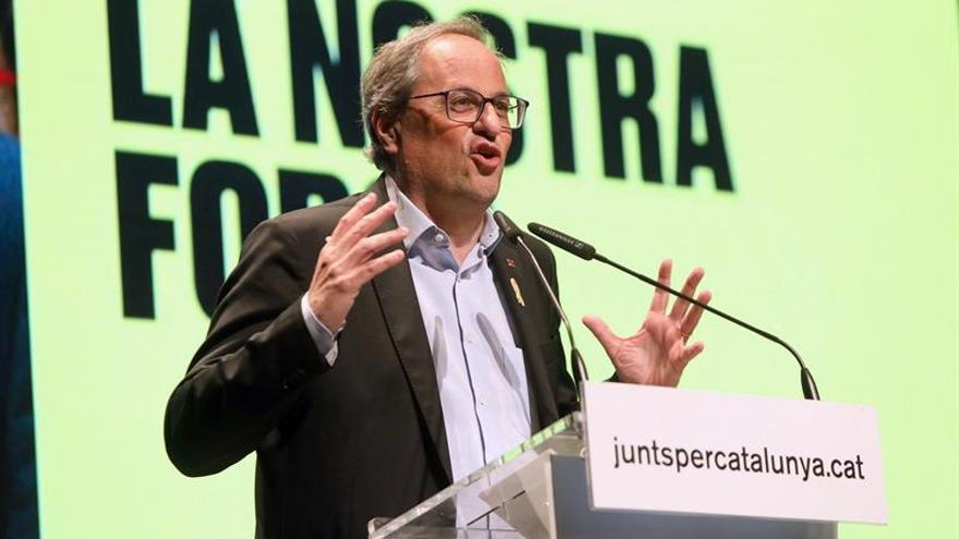 La Junta Electoral Central expedienta a Torra por el mensaje de Sant Jordi