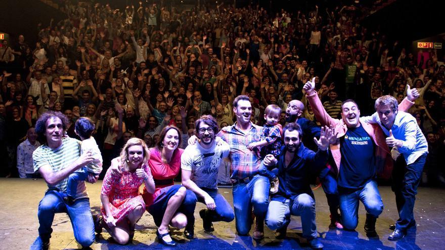Los participantes en la gala 2014 del Circuito Café Teatro Valencia
