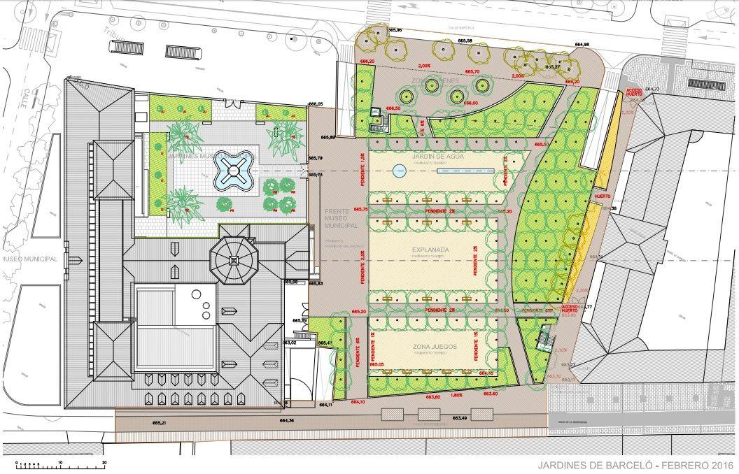 Diseño propuesto de los Jardines del Arquitecto Ribera (pincha en la imagen para ampliar)