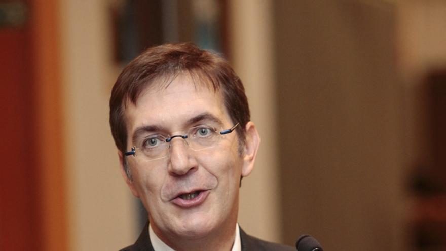 Freddy Drexler, al jurar el cargo como jurisconsulto del Parlamento Europeo, en octubre de 2013.