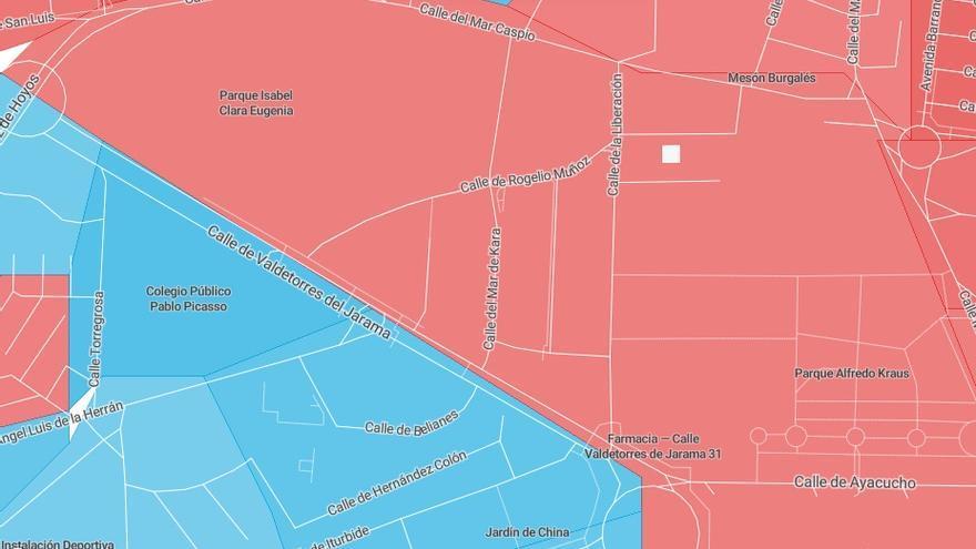 Las zonas próximas al centro de menores de Hortaleza votan en su mayoría a PP y PSOE.