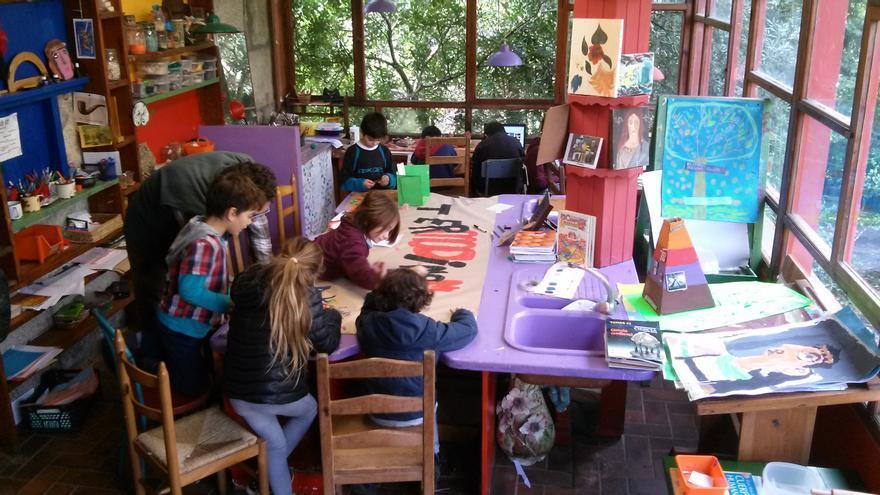 La escuela de O Pelouro, en Tui, Pontevedra, es un centro experimental reconocido como Escuela Changemaker de Ashoka.
