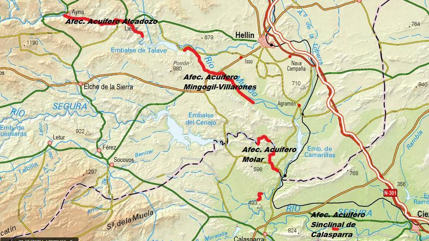 Afección a los pozos de sequía en Albacete