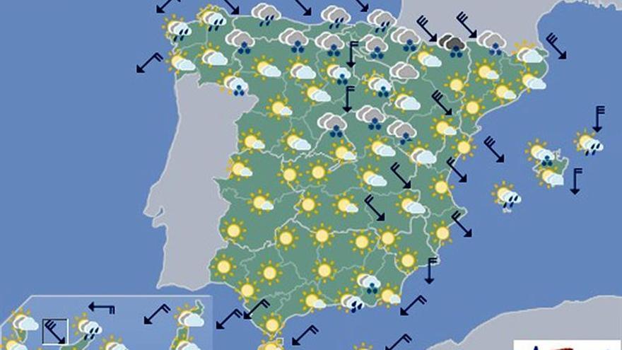 Mañana nevará en cotas bajas del norte y Baleares y helará en el interior