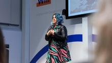 Nerea Luis, este jueves durante la presentación de Women Will, una inciativa de Google para reducir la brecha de género en Tecnología.
