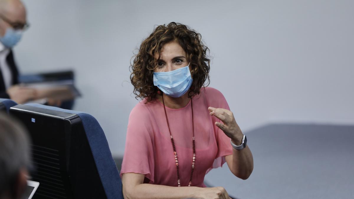 La ministra portavoz y de Hacienda, María Jesús Montero, en una foto de archivo.