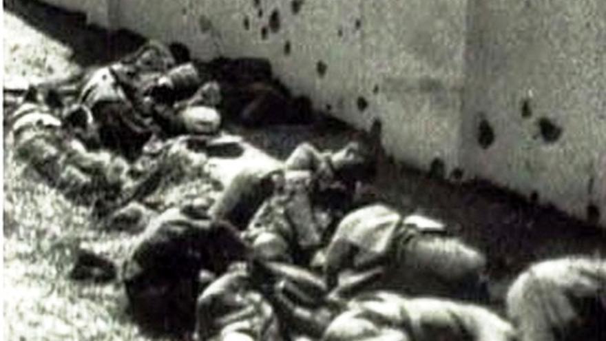Imagen de archivo de la matanza de Badajoz / Diputación de Badajoz