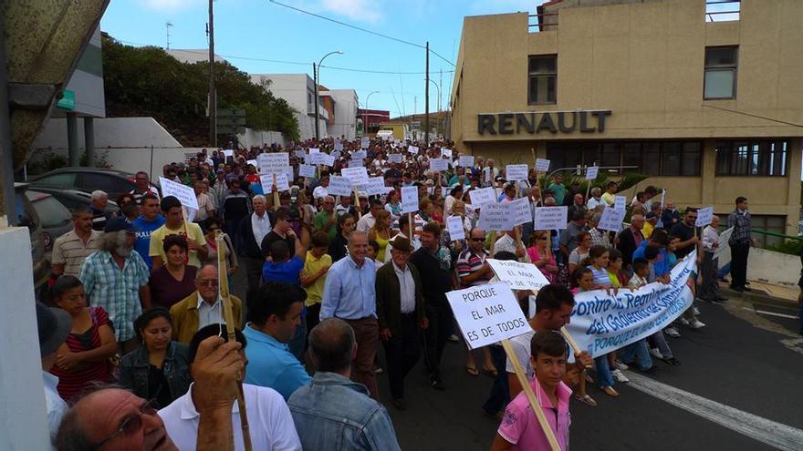 Manifestación pescadores El Hierro