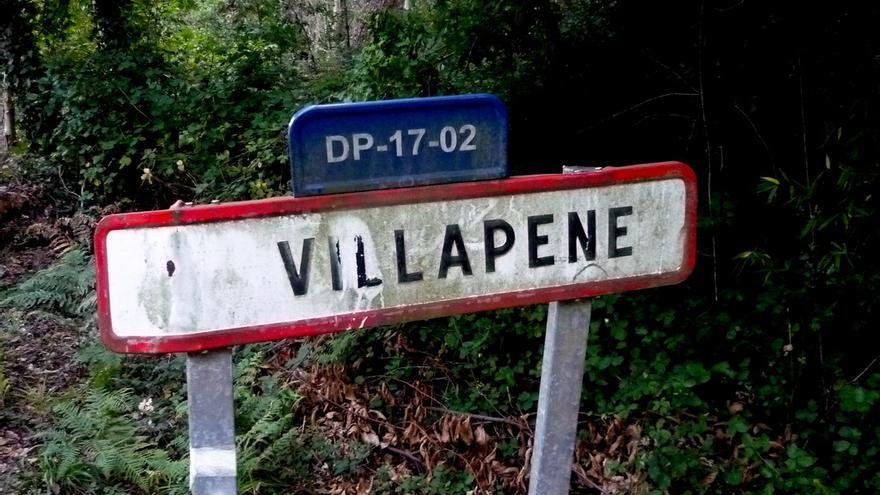 Cartel de Villapene (Lugo).