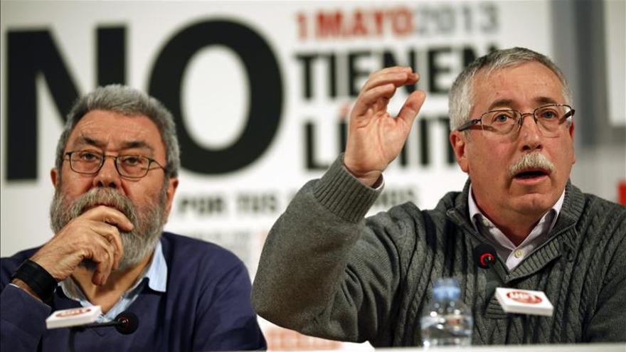 Toxo y Méndez reclaman un pacto nacional que saque a España de la recesión