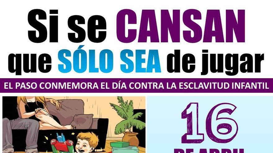 Cartel del 'Día internacional contra la esclavitud infanfil'.