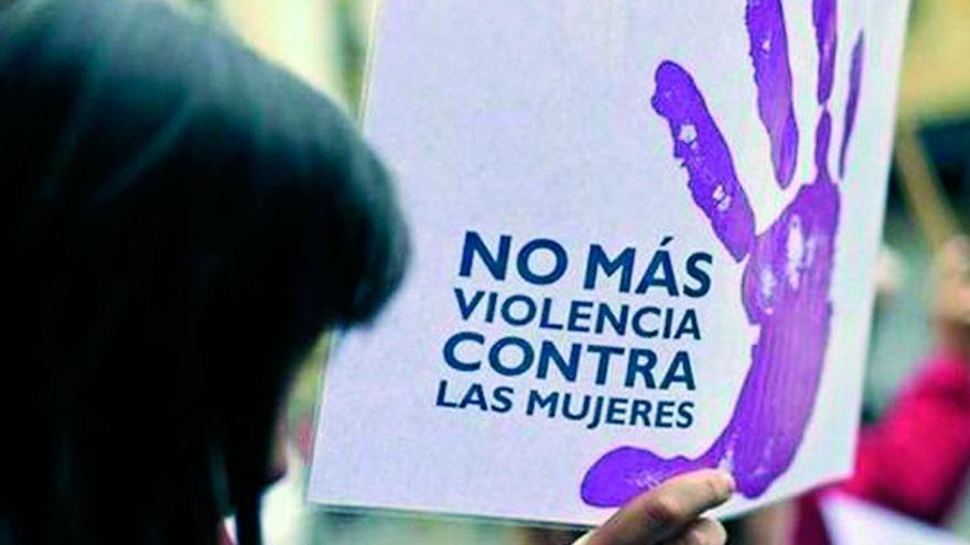 Cartel contra la violencia de género.