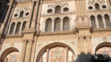 Portada principal de la catedral de Málaga