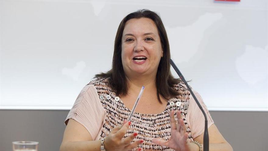 La responsable de Organización de la Comisión Gestora del PSOE de Canarias, Marián Franquet. EFE/Ramón de la Rocha