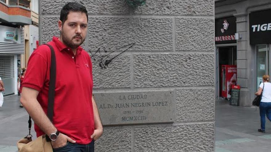 Josué Íñiguez, militante del PSOE.