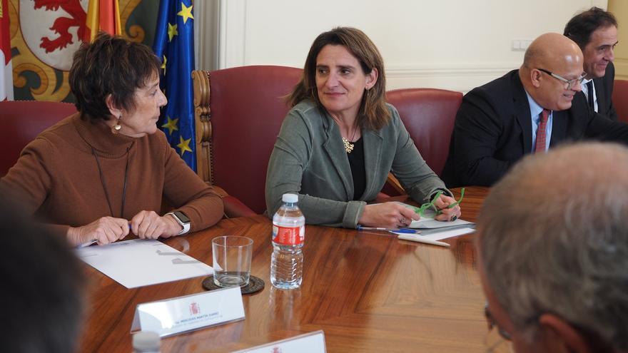 La ministra de Transición Ecológica, Teresa Ribera, este miércoles en León.