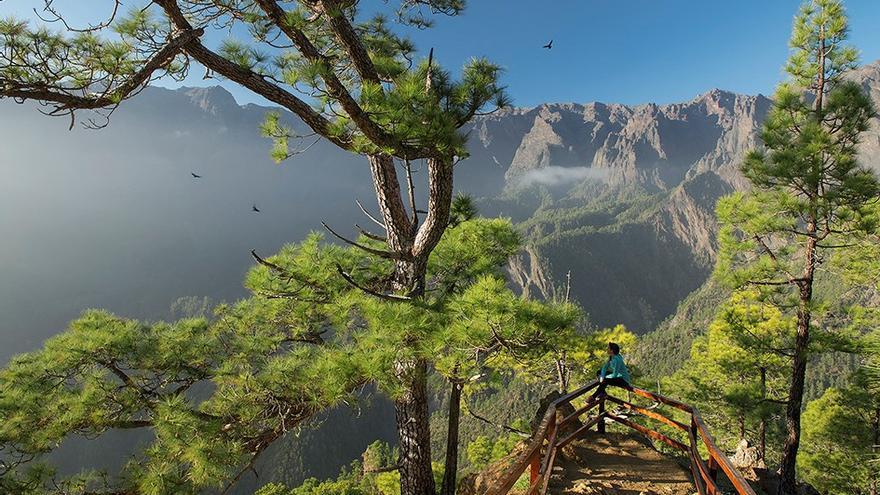 Imagen del Parque Nacional de la Caldera de Taburiente.