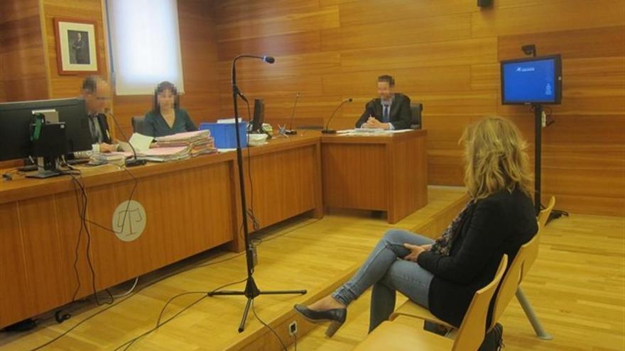 La diputada provincial de Ciudadanos, Cristina Gabarda, durante el juicio